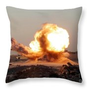 Detonation Of A Weapons Cache Throw Pillow by Stocktrek Images