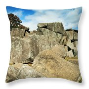 Devil's Den Formation 87 Throw Pillow by Paul W Faust -  Impressions of Light