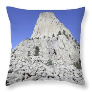 Devils Tower National Monument, Wyoming Throw Pillow by Richard Roscoe