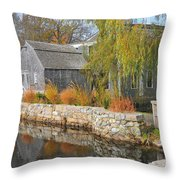 Dexter's Grist Mill Throw Pillow by Catherine Reusch  Daley