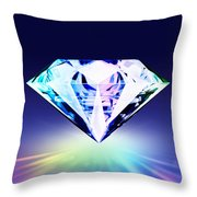 Diamond Throw Pillow by Setsiri Silapasuwanchai