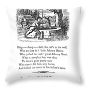 Ding Dong Bell, 1833 Throw Pillow by Granger
