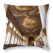 Dining Hall at Royal Naval College Throw Pillow by Anna Villarreal Garbis