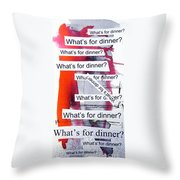 Dinner Throw Pillow by Linda Woods