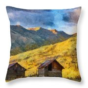 Distant Storm Throw Pillow by Jeff Kolker