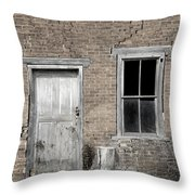 Distressed Facade Throw Pillow by John Stephens