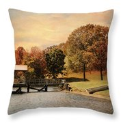 Dock For Two Throw Pillow by Jai Johnson