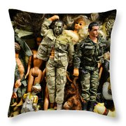 Doll - GI Joe in Camo Throw Pillow by Paul Ward
