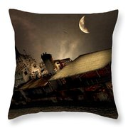 Doomed To Gloom Throw Pillow by Lourry Legarde