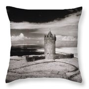 Doonagore Tower Throw Pillow by Simon Marsden
