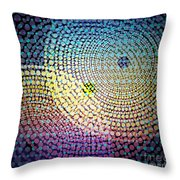 Dots Circles Throw Pillow by Atiketta Sangasaeng