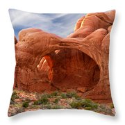 Double Arch 4 Throw Pillow by Mike McGlothlen