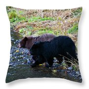 Double Trouble Throw Pillow by Mike  Dawson