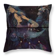 Dream Catcher Throw Pillow by Dorina  Costras
