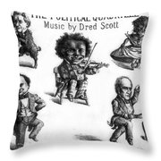 Dred Scott & The 1860 Presidential Race Throw Pillow by Photo Researchers