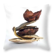 Dried Pieces Of Vegetables Throw Pillow by Bernard Jaubert