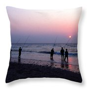 Drum Run Cape Point Throw Pillow by Skip Willits