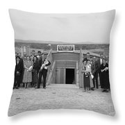 DUGOUT CHURCH, 1939 Throw Pillow by Granger