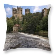 Durham Cathedral Throw Pillow by Trevor Kersley