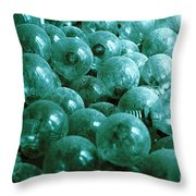 Dusty Light Bulbs Throw Pillow by Gaspar Avila