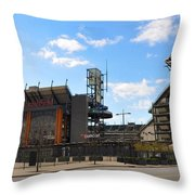 Eagles - The Linc Throw Pillow by Bill Cannon