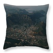 Early Morning Aerial View Of Cape Town Throw Pillow by James L. Stanfield