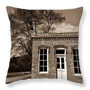 Early Office Building Throw Pillow by Douglas Barnett