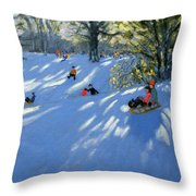 Early Snow Throw Pillow by Andrew Macara