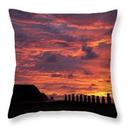 Easter Island Throw Pillow by Easter Island