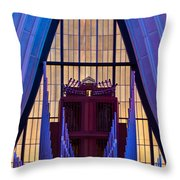 Echo Of The Pipes Throw Pillow by Colleen Coccia