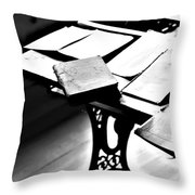 Education Station Throw Pillow by Jerry Cordeiro