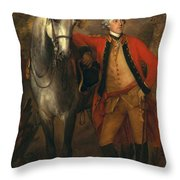 Edward Viscout Ligonier Throw Pillow by Thomas Gainsborough