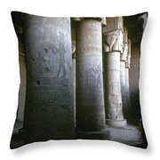 Egypt: Temple Of Hathor Throw Pillow by Granger