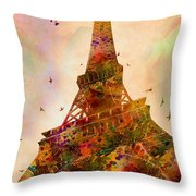 Eiffel Tower  Throw Pillow by Mark Ashkenazi