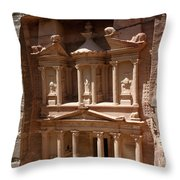 Elaborate Sandstone Temple Or Tomb Throw Pillow by Luis Marden