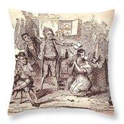 Eldons Hotel, Roundstone,connemara, Co Throw Pillow by The Irish Image Collection