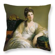 Eleanor Francis Grant - Of Arndilly Throw Pillow by Tilly Kettle