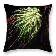 Electric Jellyfish Throw Pillow by Rhonda Barrett