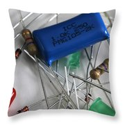 Electronic Components Throw Pillow by Photo Researchers, Inc.