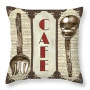 Elegant Bistro 2 Throw Pillow by Debbie DeWitt