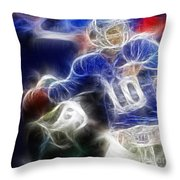 Eli Manning Ny Giants Throw Pillow by Paul Ward