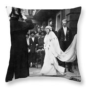 Elizabeth Bowes-lyon Throw Pillow by Granger