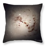 Elliptical Galaxy Ngc 1316, Hst Image Throw Pillow by NASA / ESA / Space Telescope Science Institute