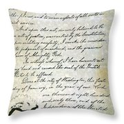 Emancipation Proc., P. 4 Throw Pillow by Granger