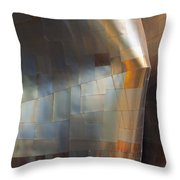 Emp Abstract Fold Throw Pillow by Chris Dutton