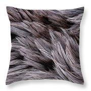 Emu Feathers Throw Pillow by Hakon Soreide