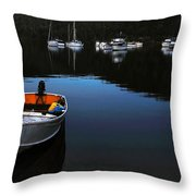 End of a Beautiful Day Throw Pillow by Kaye Menner