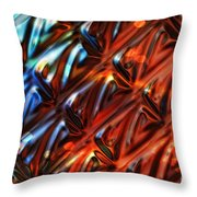 Endorphins Throw Pillow by Mo T