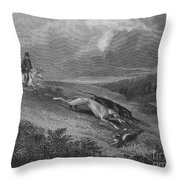 England: Coursing, 1833 Throw Pillow by Granger