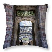 Enter Throw Pillow by Joan Carroll